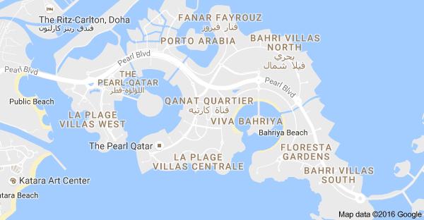 doha map qatar