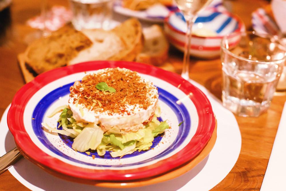 fish tartare with burrata Corallo Bar