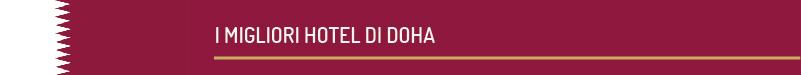 i migliori hotel a doha